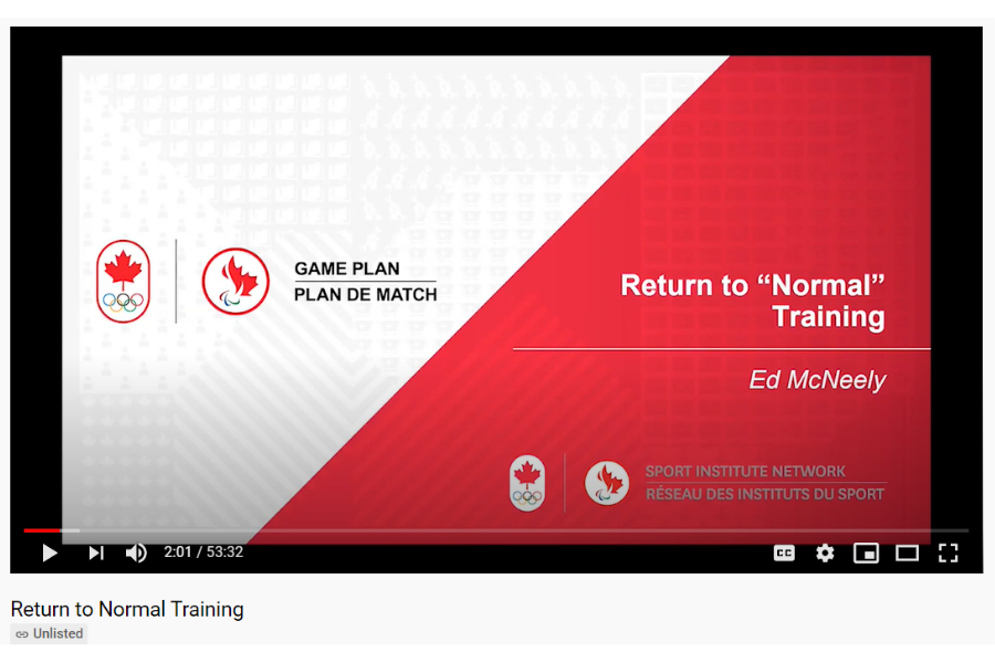 Return to Normal Training